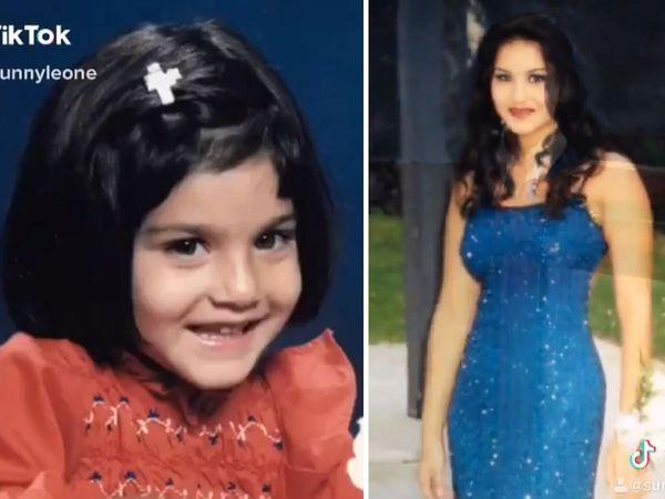 Sunny leone Childhood Tik Tok dance on haryanvi dance sapna choudhary Watch video