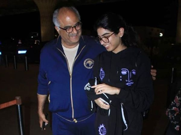 Khushi Kapoor with father Boney Kapoor