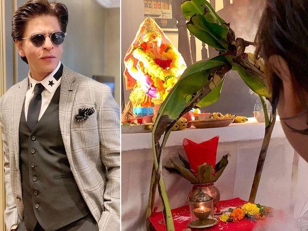 ganpati visarjan 2019 Shahrukh Khan Abram Khan goodbye to lord ganesha
