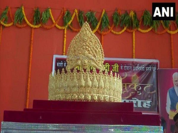 Gold crown to Lord Hanuman on PM Birthday