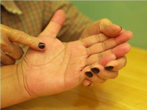 Gol chakra in palms