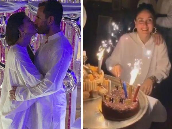 Kareena kapoor birthday celebration in pataudi palace check photos videos