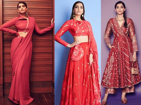 Sonam Kapoor red outfits