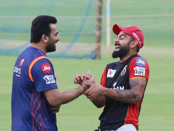 Zaheer Khan and Virat Kohli
