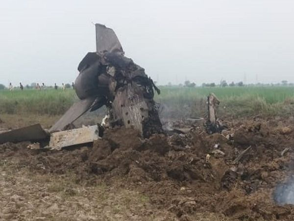 MiG 21 crashed