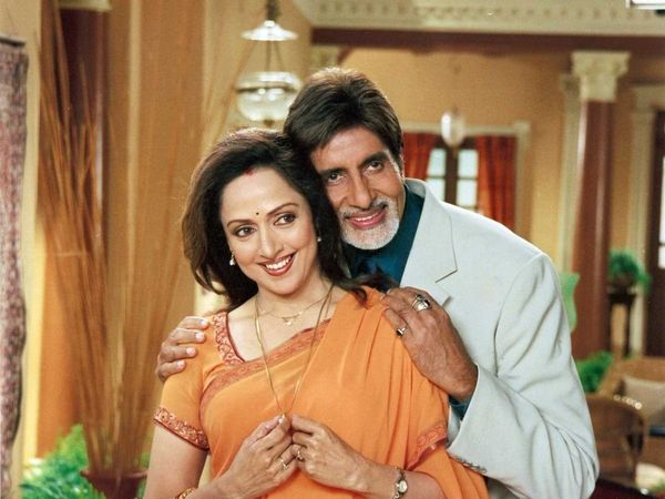 Amitabh and Hema Malini