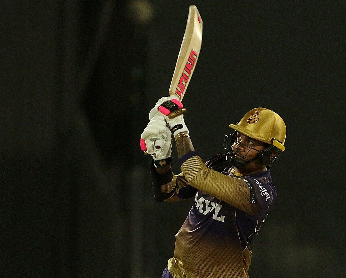 Sunil Narine batting