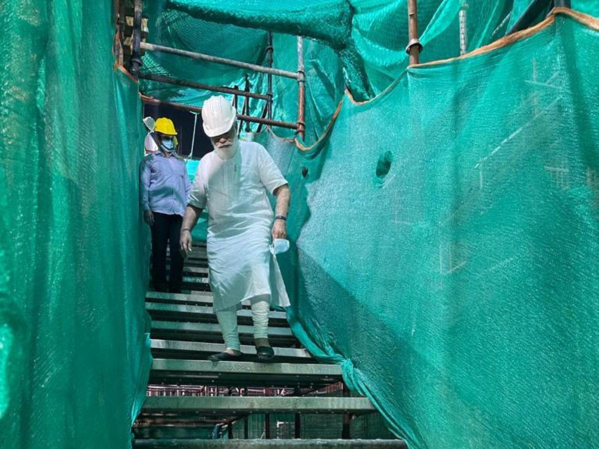 PM Modi at central vista site